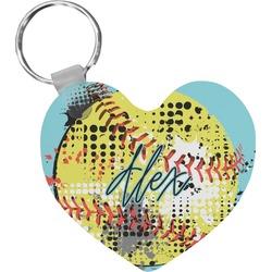 Softball Heart Keychain (Personalized)