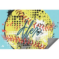 Softball Indoor / Outdoor Rug (Personalized)