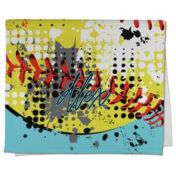 Softball Kitchen Towel - Full Print (Personalized)