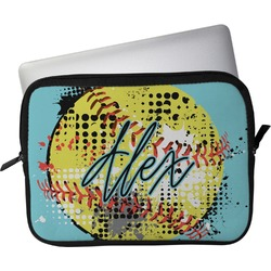 "Softball Laptop Sleeve / Case - 13"" (Personalized)"