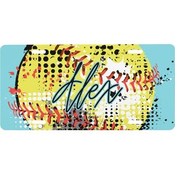 Softball Front License Plate (Personalized)
