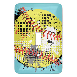 Softball Light Switch Covers - Multiple Toggle Options Available (Personalized)