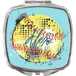 Softball Compact Makeup Mirror (Personalized)