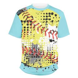 Softball Men's Crew T-Shirt (Personalized)