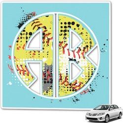 Softball Monogram Car Decal (Personalized)