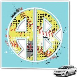 Softball Monogram Car Decal (Personalized)