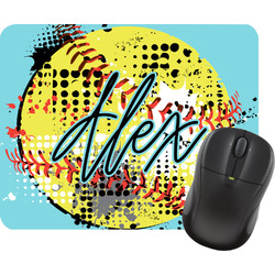 Softball Rectangular Mouse Pad (Personalized)