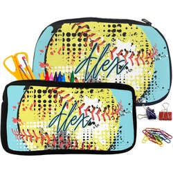 Softball Pencil / School Supplies Bag (Personalized)