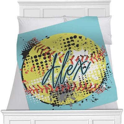 Softball Minky Blanket (Personalized)