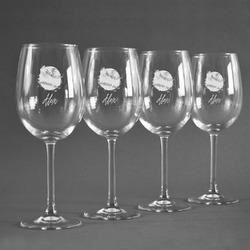 Softball Wine Glasses (Set of 4) (Personalized)