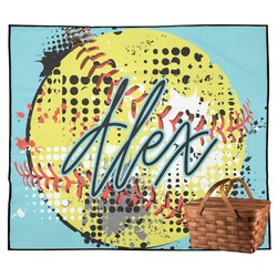 Softball Outdoor Picnic Blanket (Personalized)