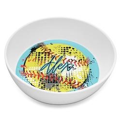 Softball Melamine Bowl 8oz (Personalized)