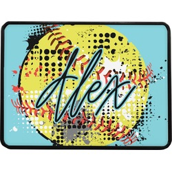 Softball Rectangular Trailer Hitch Cover (Personalized)