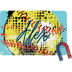 Softball Rectangular Fridge Magnet (Personalized)