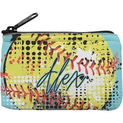 Softball Rectangular Coin Purse (Personalized)