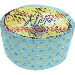 Softball Round Pouf Ottoman (Personalized)