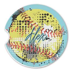 Softball Sandstone Car Coasters (Personalized)