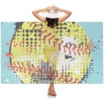 Softball Sheer Sarong (Personalized)