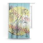 Softball Sheer Curtains (Personalized)