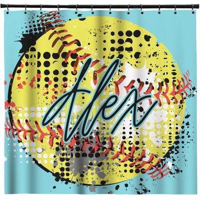 Softball Shower Curtain (Personalized)