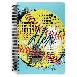 Softball Spiral Bound Notebook (Personalized)