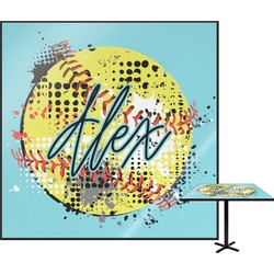 """Softball Square Table Top - 24"""" (Personalized)"""