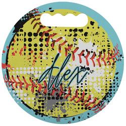 Softball Stadium Cushion (Round) (Personalized)