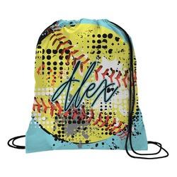 Softball Drawstring Backpack - Small (Personalized)