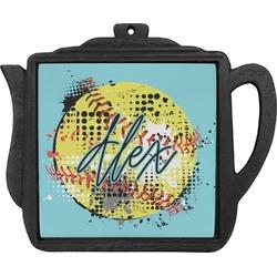 Softball Teapot Trivet (Personalized)