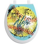 Softball Toilet Seat Decal (Personalized)