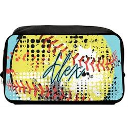 Softball Toiletry Bag / Dopp Kit (Personalized)