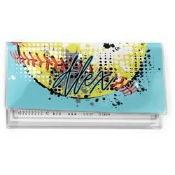 Softball Vinyl Checkbook Cover (Personalized)