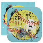 Softball Facecloth / Wash Cloth (Personalized)