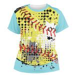 Softball Women's Crew T-Shirt (Personalized)