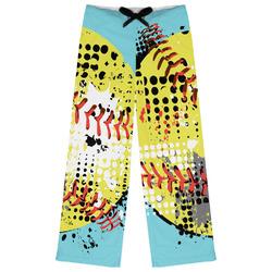 Softball Womens Pajama Pants (Personalized)