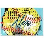 Softball Woven Mat (Personalized)