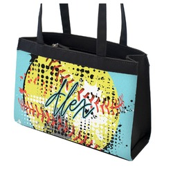Softball Zippered Everyday Tote (Personalized)