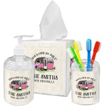 Camper Acrylic Bathroom Accessories Set w/ Name or Text