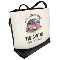 Camper Beach Tote Bag (Personalized)