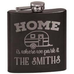 Camper Black Flask (Personalized)