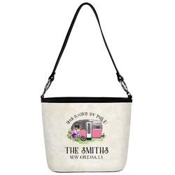 Camper Bucket Bag w/ Genuine Leather Trim (Personalized)