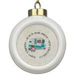 Camper Ceramic Ball Ornament (Personalized)