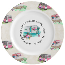 Camper Ceramic Dinner Plates (Set of 4) (Personalized)