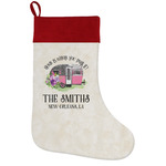 Camper Holiday Stocking w/ Name or Text