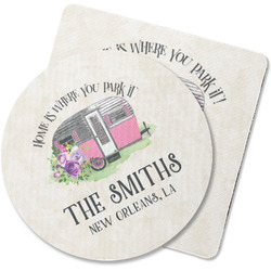 Camper Rubber Backed Coaster (Personalized)