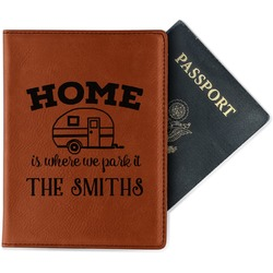 Camper Leatherette Passport Holder - Single Sided (Personalized)