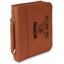 Camper Leatherette Book / Bible Cover with Handle & Zipper (Personalized)