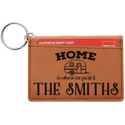 Camper Leatherette Keychain ID Holder (Personalized)