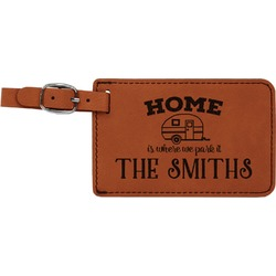 Camper Leatherette Luggage Tag (Personalized)
