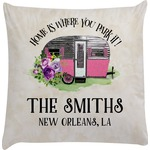 Camper Decorative Pillow Case (Personalized)